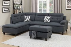 New! 3-Pcs Microfiber Sectional Set FREE DELIVERY in Miramar, California