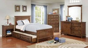 New! Twin Dark Oak Bed Frame. Free Delivery in Miramar, California