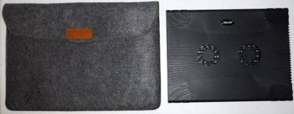 AmazonBasics Felt Laptop Sleeve Case + iWorld Laptop Cooling Station in Orland Park, Illinois