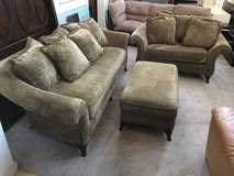 2pc Brown Upholstered Sofa+Ottoman-Bernhardt Furniture For Z Gallerie in Joliet, Illinois