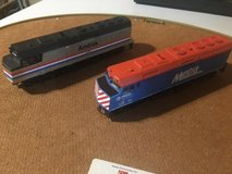 ho scale vintage amtrak and metra locomotive with  3 cars in Orland Park, Illinois