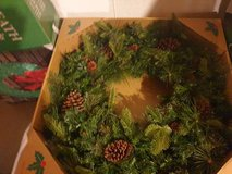 """32"""" christmas holiday  Pre-Lit Artificial Mixed Greenery Wreath in Joliet, Illinois"""