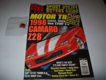 motor trend magazine   july 1996   1998 camaro concept car + pin in Orland Park, Illinois