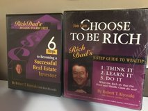 rich dad poor dad real estate books dvd audio cd bundle in Plainfield, Illinois