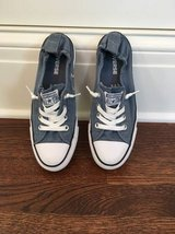 LIKE NEW Women's Converse Blue Shoreline Slip-0n Size 7.5 in Glendale Heights, Illinois