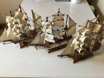 LOT OF 3 WOODEN MODEL SHIPS in Orland Park, Illinois