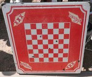 cerveza superior xxx metal table porcelain top old mexican beer checker board in Alamogordo, New Mexico