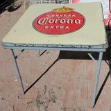 cerveza corona beer metal folding table porcelain top mexican bar decor in Alamogordo, New Mexico