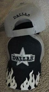 dallas cowboys embroderied blue ball cap  flames new in Alamogordo, New Mexico