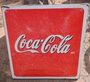 coca cola metal  porcelain sign table top  from mexico in Alamogordo, New Mexico