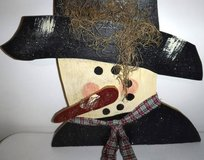 Hanging Wooden Snowman ~ Christmas Holiday Decor in Orland Park, Illinois