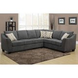 10x7.5 ft NEW GREY YARROW FABRIC SECTIONAL COUCH SOFA in Joliet, Illinois