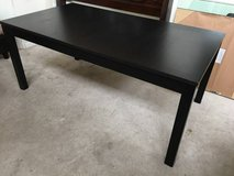 IKEA Dining Table with leaves-Brown Black in Joliet, Illinois