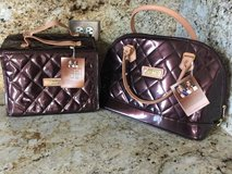 New Joy & IMAN Quilted Tote/Handbag and Roll-Up Organizer-Burgundy in Joliet, Illinois