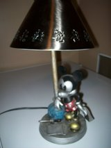 disney hampton bay 2002 table lamp with metal shade mickey mouse at the ink well in Naperville, Illinois