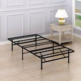 Twin Size Mattress Foundation Platform Bed Frame, Twin - New! in Joliet, Illinois
