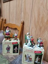 """2 Boxes of """"International Santa Collectibles"""" ( figurines + matching ornaments) in Bellaire, Texas"""