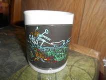 """New Ceramic Multicolored Motorcycle Coffee Mug Cup! 4"""" Tall in Bellaire, Texas"""