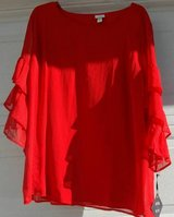 NWT Blouse  Red 4X in Batavia, Illinois