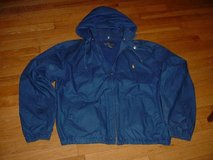 Polo Ralph Lauren Removable Hooded Cotton Bomber Jacket Royal-Blue L in Naperville, Illinois