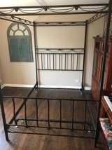 Metal canopy bed with heavy duty bed frame in Yorkville, Illinois