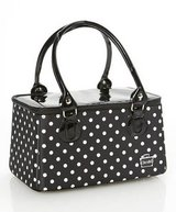 Caboodles Black & White Polka Dot Heartthrob Cosmetic Makeup Case - New! in Plainfield, Illinois