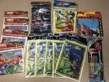 marvel heroes favor bags birthday party supplies avengers glow sticks batman lot in Shorewood, Illinois