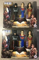 lot of 2 dc comics batman v superman dawn of justice 3 pc pez set wonder woman in Joliet, Illinois