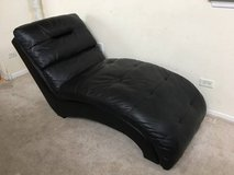 Black Leather Chaise Lounge in Joliet, Illinois