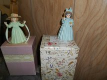 """2 Maud Humphrey Bogart Porcelain Figurines: """"Autumn Days"""" and """"A Flower For You"""" in Kingwood, Texas"""