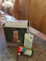 """Enesco Vintage Christmas Ornament """"Letter To Santa"""" 1984 Approximately 2 1/2"""" tall in Bellaire, Texas"""