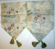 Set of 2 Floral Table Runners w/ Green Tassels in Orland Park, Illinois