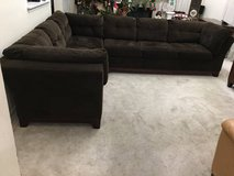 2pc Brown Sectional Sofa in Joliet, Illinois