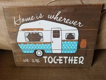 Cute wooden sign ready for hanging in Camp Pendleton, California