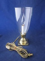 "BALDWIN BRASS Lamp with Glass Hurricane 11"" tall x 3.75"" Square Base in Naperville, Illinois"
