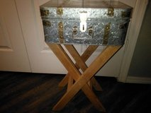 Metal suitcase style side table in Phoenix, Arizona