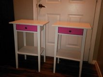 2 white and pink Side tables in Phoenix, Arizona