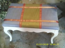 reduced...BENCH CLOTH TOP WOOD BASE in Orland Park, Illinois