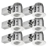 Swivel Baffle Recessed Can LED Ceiling Light Kit - 6 Pack -- New! in Plainfield, Illinois