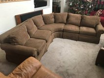3pc Brown Upholstered Sectional Sofa by Henredon Upholstery Collection in Joliet, Illinois