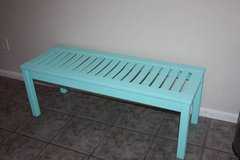 Mint Green with Blue Tint Entry Way Bench or End of Bed Bench in Kingwood, Texas
