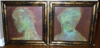 Set of 2 Framed Giclee Art - Axton Countenance Silhouettes in Chicago, Illinois
