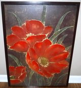 """Framed Art - Flowers on Canvas Painting ~32""""H in Chicago, Illinois"""