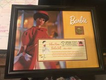 Barbie Doll Framed Collectors Edt. USPS Silken Flame first day stamp in Baytown, Texas