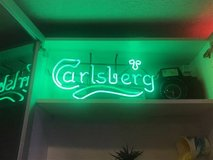 Green Carlsberg Neon in Baytown, Texas