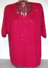New! Sz 1X / 18 Coldwater Creek Pink Lattice Stitch Sweater in Chicago, Illinois