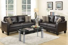 New! 2-Pcs Bonded Leather Sofa Set FREE DELIVERY in Miramar, California