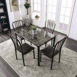 New! Dark Gray 5-Piece Dining Set. Free Delivery! in Camp Pendleton, California