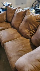 Microfiber Brown Couch in Plainfield, Illinois