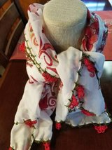 Crocheted edge scarf/head covering from Egypt in Camp Pendleton, California